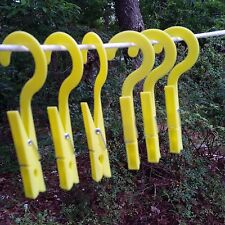 checkys deals hook drip dry clothes pins yellow set of six - seven coil spring
