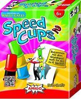 Kinder Beste Geschicklichkeit Spielzeug AMIGO Speed Cups 2 Legespiele Party NEU