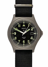 MWC G10 100m Solar Powered Titanium Military Watch- May Need Capacitor Attention