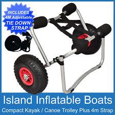 KAYAK TROLLEY  COMPACT COLLAPSIBLE Aluminium Canoe Ski Cart 100kg FREE POST New