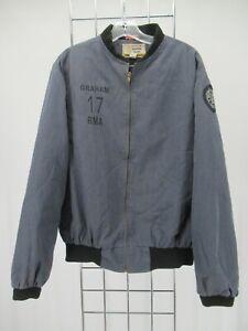 I8059 VTG Men's Full-Zip Hood Quilt Line Military Jacket Made in USA Size L