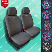 (RMW) RM WILLIAMS GREY/PINK JILLAROO FRONT CAR SEAT COVER SUEDE VELOUR CHARCOAL