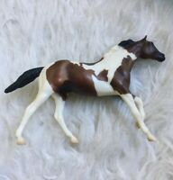 Breyer Reeves Pinto White & Brown Foal Filly Running Horse