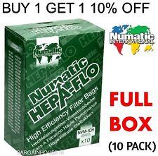10 Packs x Genuine Numatic Hepa-Flo Hoover Vacuum Bags Henry Hetty James NVM-1CH