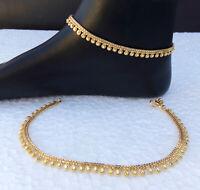 ANKLET BRACELET 22k GOLD PLATED PAYAL SET BOLLYWOOD Fashion INDIAN JEWELRY ac1