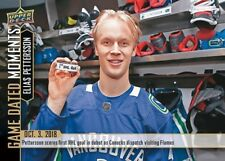 ELIAS PETTERSSON RC 2018-19 UPPER DECK GAME DATED MOMENTS #2 (1ST CAREER GOAL)