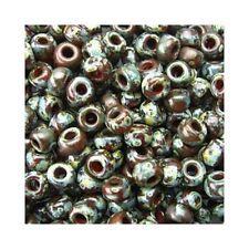 Miyuki Seed Beads 11/0 Picasso Red Brown 11-4503 23g Round Transparent