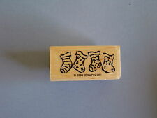 STAMPIN' UP RUBBER STAMPS CHRISTMAS STOCKINGS USED STAMP 2003