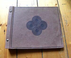 ORIGINALES Plattenalbum Schellackplatten Grammophon-Schellack-Platten 25cm rosé