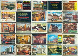 25 alte Gasthaus-Streichholzetiketten aus Deutschland #977