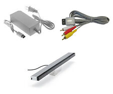 Wii Parts Bundle Sensor Bar AV Cable And Power Adapter By Mars Devices 0Z