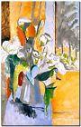 "Henri Matisse CANVAS PRINT Bouquet of Flowers on a Veranda poster 24""X18"""