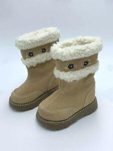 Gymboree Autumn Highlands Baby Little Girl 3 03 Floral Faux Fur Tan Suede Boots