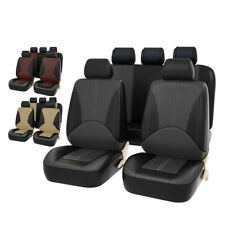 Car Seat Cover Full Set Universal 9PCS Seat Protector Leather Auto Accessories
