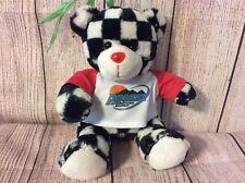 Totally Teddies-Phoenix International Raceway Bear-Black & White Checked Red New