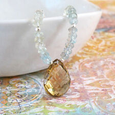djs Sundance So Ombre Beryl Whiskey Quartz Citrine Brio Sterling Silver Necklace