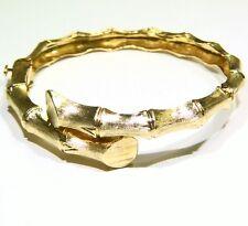 VINTAGE 14K SOLID GOLD 23.43GM ENGAGEMENT BANGLE BRACELET NO SCRAP ART DECO