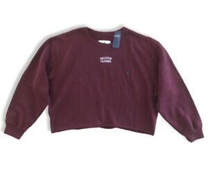 Charli & Dixie XL Limited Edition Hollister By Abercrombie Crop Sweatshirt $39