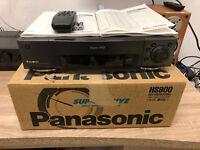7 Tête S-Vhs Enregistreur Panasonic Nv-hs900eg avec Fb / Bda Emballage D'Origine