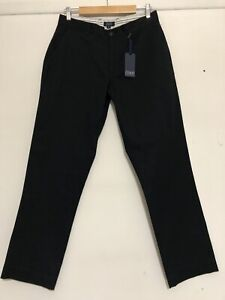 COAST CLOTHING CO MENS NAVY COTTON BROKEN IN STRAIGHT PANTS Sz 32 NWT RRP$79.95
