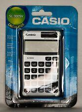 Casio SL-300SV Wallet Style Pocket Calculator, 8 Digit Display NEW