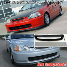 SIR Style Front Bumper Lip (PU) + TR Style Grill (Mesh) Fit 96-98 Civic 2dr