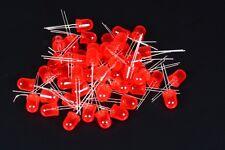 FOGGY 10 DIODI LED LEDS ROSSI 10mm RED LUCE DIFFUSA DIFFUSED