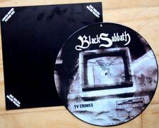 "EX/EX! BLACK SABBATH TV CRIMES 12"" VINYL Picture Pic Disc RONNIE JAMES DIO!"