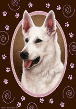 Garden Indoor/Outdoor Paws Flag - White German Shepherd 171951