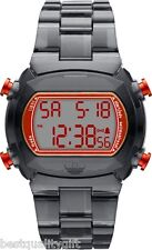 NEW-ADIDAS CANDY CLEAR BLACK ACRYLIC STRAP+RED DIGITAL WATCH-ADH6510