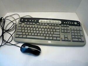 Hewlett Packard HP Internet Wired Multimedia Keyboard PS/2 Hot Keys Model 5181