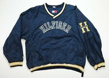 Rare Vintage TOMMY HILFIGER Spell Out H Pullover Golf Windbreaker Jacket 90s XL