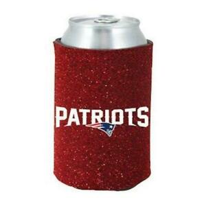 New England Patriots Glitter Can Coozie [NEW] Womens Koozie Bling Drink Holder