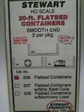"Stewart-Tomar HO 20-ft Smooth End Flatbed Container (2 pcs) ""KIT FORM"" #206"