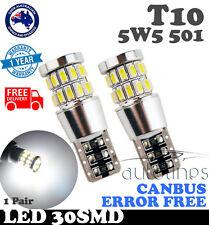T10 LED 30 SMD 194 W5W White 5630 Light Turn Tail Signal Backup Door Bulb Globe