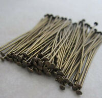 50pcs Antique Bronze Hook Rings Chandelier Lamp Crystals Bead Connector Pins DIY