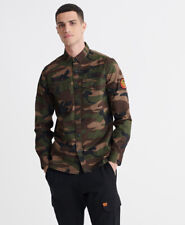 Superdry Mens Core Military Patched Long Sleeved Shirt