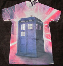 SMALL MENS GRAPHIC T-SHIRT DR. WHO TARDIS TIMELORDS TV SHOW BRITISH BBC POLICE!!