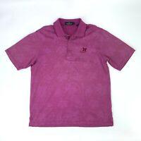Bugatchi Kapalua Golf Course Polo Shirt Men Size M Floral Soft Mercerized Cotton