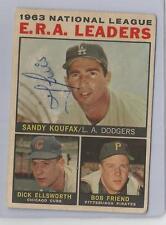 1964 Topps Venezuela Baseball E.R.A. Leaders Card # 1 Poor Condition (CSC)