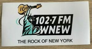 "WNEW 102.7 FM Radio New York Bumper Sticker ""The Rock of New York"""