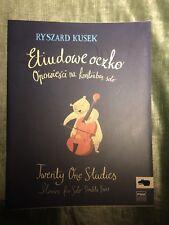 Ryszard Kusek 20 études histoires pour contrebasse partition PWM