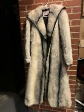 Vintage Long Length Leather And Fur Coat Make In England