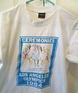 Vtg 1984 Los Angeles Olympics Ceremonies T-Shirt, Picasso Art Single Stitch SZ L