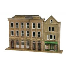 Low relief bank & shops - OO/HO Card kit – Metcalfe PO271 - Free Post