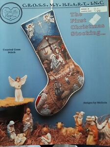 The First Christmas Stocking Cross Stitch pattern by Cross My Heart Inc