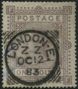 SG132 £1 Brown Lilac GF, basically a good stamp, with cert and some faults