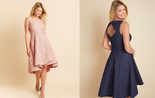 895f0531c1b Bravissimo PD740 HANNAH HI-LO HEM DRESS IN NAVY/ BLUSH PINK RRP £110