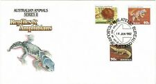 Australia 1982 Australian Animals Reptiles & Amphibians Official First Day Cover