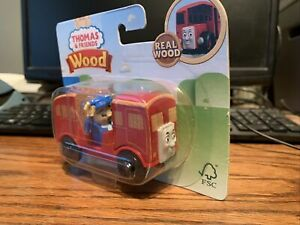 Thomas & Friends Real Wood Railway Bus Bertie Toy Driver Figure 2018 New Sealed